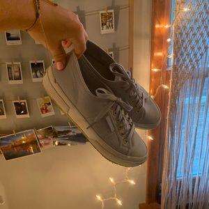 Dusty Blue 2750 Rainbow Eyelet Sneakers